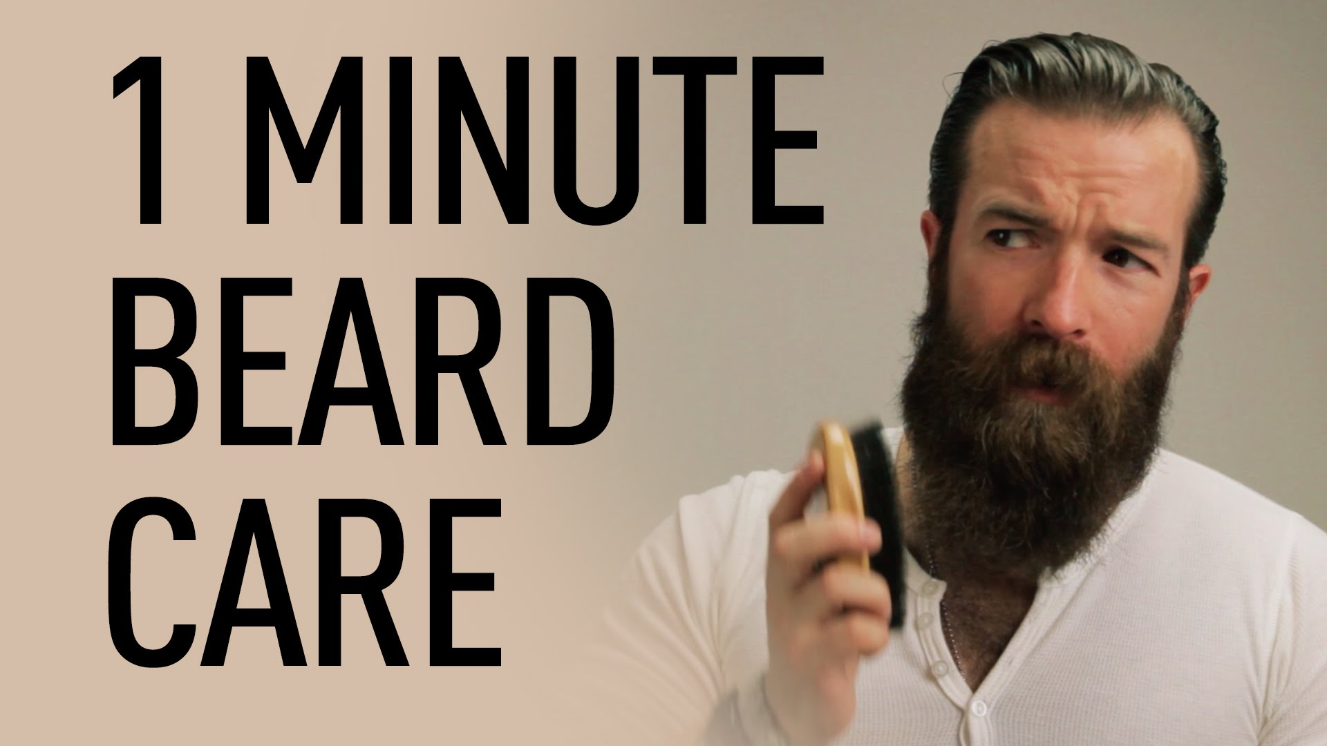 1 minute beard grooming jeff buoncristiano. Black Bedroom Furniture Sets. Home Design Ideas