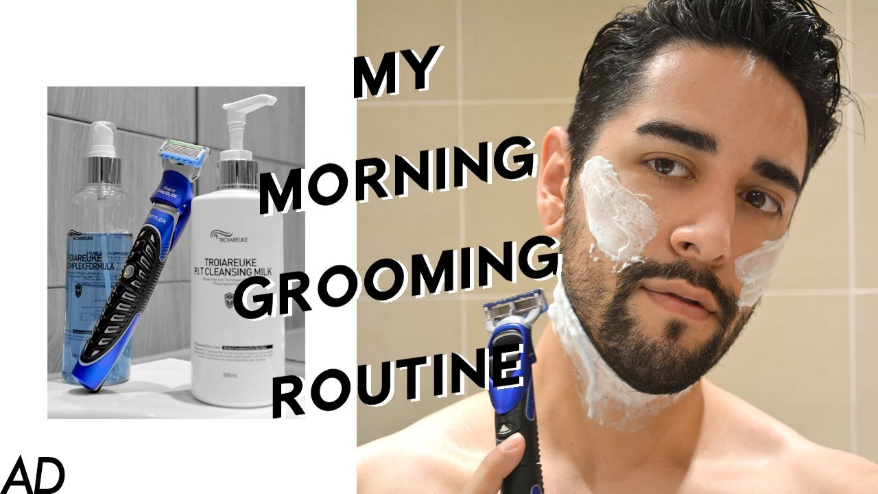my morning grooming routine beard grooming shaping gillette proglide. Black Bedroom Furniture Sets. Home Design Ideas